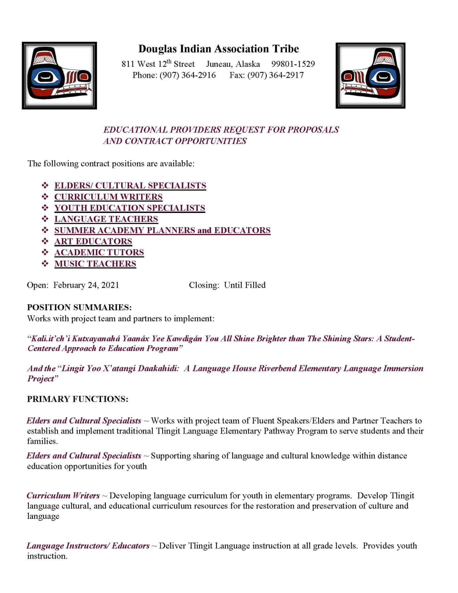 Service Educator Contractor Options